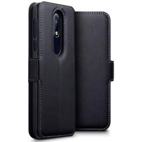 Terrapin Low Profile Δερμάτινη Θήκη - Πορτοφόλι Nokia 7.1 - Black (117-001-317)