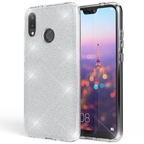 Shining Glitter Case για Huawei P Smart 2019  Silver - OEM(200-103-832)