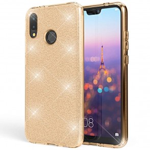 Shining Glitter Case για Huawei P Smart 2019  Gold - OEM (200-103-834)