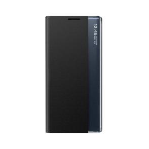 OEM New Sleep Flip Cover Case Θήκη με Ημιδιάφανο Παράθυρο Samsung Galaxy A52 - Black (200-107-718)