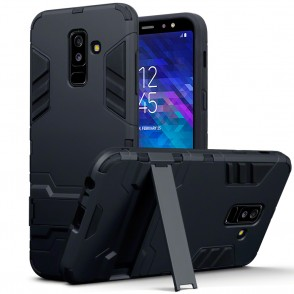 Terrapin Ανθεκτική Dual Layer Θήκη Samsung Galaxy A6 Plus 2018 - Black (131-002-080)
