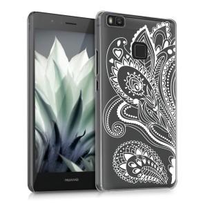 Ημιδιάφανη σκληρή θήκη Flower για Huawei P9 Lite by KW (200-101-890)