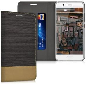 Θήκη- Πορτοφόλι για Huawei P10 καφέ by KW (200-102-072)