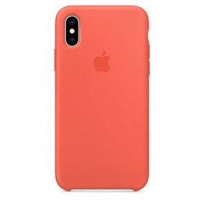 Apple Official Silicon Cover - Θήκη Σιλικόνης iPhone XS - Nectarine (MTFA2ZM/A)