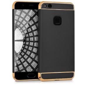 Θήκη Huawei P10 Lite μαύρη με χρυσά clips by KW (200-102-271)