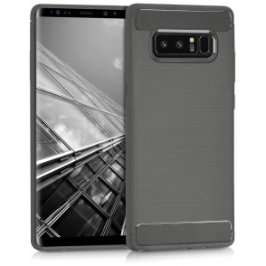 Θήκη Brushed Carbon ανθρακί για Samsung Galaxy Note 8 by KW (200-102-342)