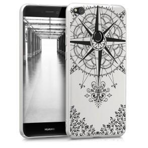 Θήκη για Huawei P8/P9 Lite(2017) σκληρή Compass ασημί  by KW (200-102-612)