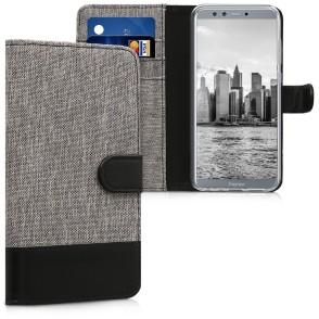 Θήκη- Πορτοφόλι για Huawei Honor 9 Lite γκρι by KW (200-102-680)