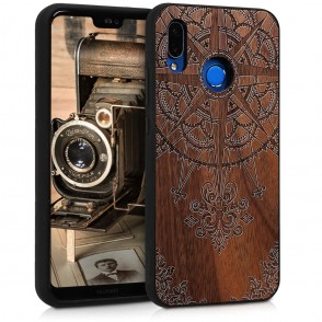 KW Ξύλινη Θήκη Huawei P20 Lite - Brown - Compass walnut (200-104-408)