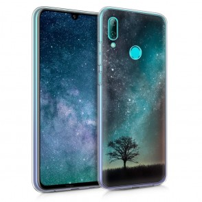 KW Θήκη Σιλικόνης Huawei P Smart 2019 - Blue/Grey/Black (200-103-626)