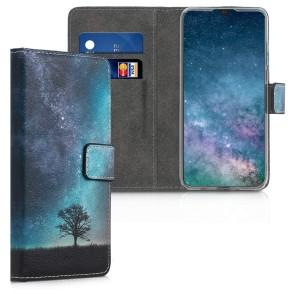 Θήκη πορτοφόλι Μπλε/Γκρι/Μαύρη για Huawei P30 Lite by KW (200-103-601)