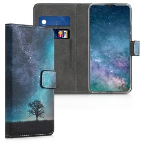 Θήκη πορτοφόλι για Huawei P30 Lite  Blue/Grey/Black  by KW (200-104-491)
