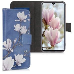 KW Θήκη Πορτοφόλι Samsung Galaxy A40 - Taupe / White / Blue Grey (200-103-968)