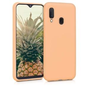 KW Θήκη Σιλικόνης Samsung Galaxy A20e - Peach (200-104-772)