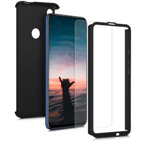 KW Θήκη Full Body Huawei P Smart Z & Screen Protector - Metallic Black (200-104-369)