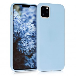 KW Θήκη Σιλικόνης iPhone 11 Pro Max - Light Blue Matte (200-104-381)