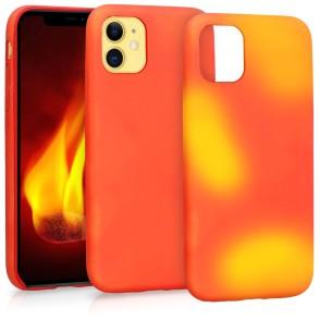 KW Θερμική Θήκη Σιλικόνης iPhone 11 - Red / Yellow (49811.01)