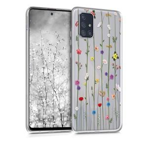 KW Θήκη Σιλικόνης Samsung Galaxy A71 - Wildflower Vines Multicolor / Transparent (200-105-627)