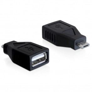 Delock Adapter Micro USB-B Male > USB-A 2.0 Female (65296)