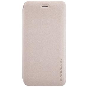 Θήκη Sparkle Leather Flip  για iPhone 6/6S Plus by Nillkin χρυσή  (200-101-101)
