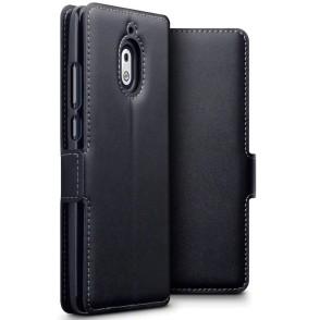 Terrapin Low Profile Δερμάτινη Θήκη - Πορτοφόλι Nokia 2.1 - Black (117-001-299)