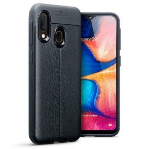 Terrapin Θήκη TPU Leather Design Samsung Galaxy A20e - Black (118-002-781)