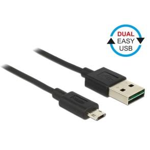 Delock EASY USB-A 2.0 Male > EASY Micro USB Male 50cm (83845)