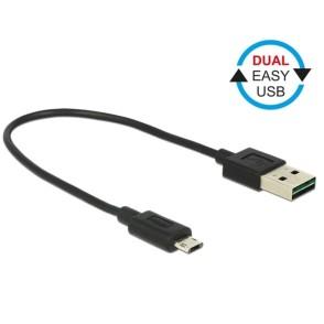 Delock EASY USB-A 2.0 Male > EASY Micro USB Male 20cm (84804)