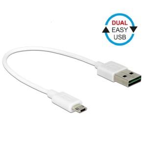 Delock EASY USB-A 2.0 Male > EASY Micro USB Male 20cm (84805)