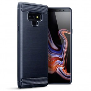 Terrapin Θήκη Σιλικόνης Carbon Fibre Design Samsung Galaxy Note 9 - Dark Blue (118-002-719)
