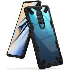 Ringke Fusion-X Θήκη OnePlus 7 Pro με TPU Bumper - Black (200-103-892)