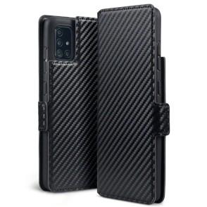 Terrapin Θήκη Πορτοφόλι Samsung Galaxy A51 - Black Carbon Fibre (117-002a-211)