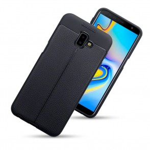 Terrapin Θήκη TPU Leather Design Samsung Galaxy J6 Plus 2018 - Black (118-002-740)