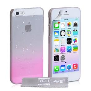 Θήκη για iPhone 5/5s/SE by YouSave ροζ και δώρο screen protector (200-100-984)