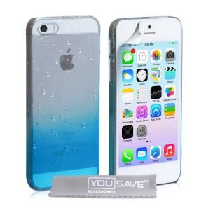 Θήκη για iPhone 5/5s/SE by YouSave μπλε και δώρο screen protector (200-100-985)