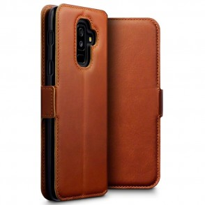Terrapin Low Profile Δερμάτινη Θήκη - Πορτοφόλι Samsung Galaxy A6 Plus 2018 - Cognac (117-002a-065)