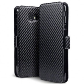 Terrapin Low Profile Θήκη - Πορτοφόλι Carbon Fibre Samsung Galaxy J4 Plus 2018 - Black (117-002a-095)
