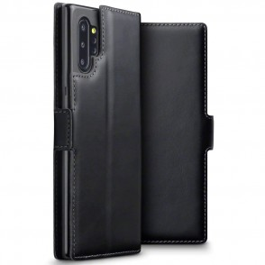 Terrapin Low Profile Δερμάτινη Θήκη - Πορτοφόλι Samsung Galaxy Note 10 Plus - Black (117-002a-182)