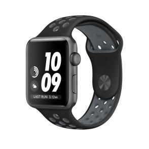Ανταλλακτικό Λουράκι Σιλικόνης Apple Watch 3/2/1 - 42mm -  Black/Grey By Tech-Protect(200-102-847)