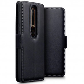 Terrapin Low Profile Δερμάτινη Θήκη - Πορτοφόλι Nokia 6 2018  - Black (117-001-278)