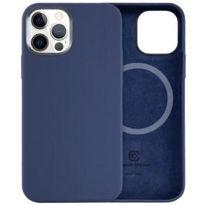 Crong Color Magnetic Θήκη MagSafe Premium Σιλικόνης Apple iPhone 12 / 12 Pro - Blue (CRG-COLRM-IP1261-BLUE)