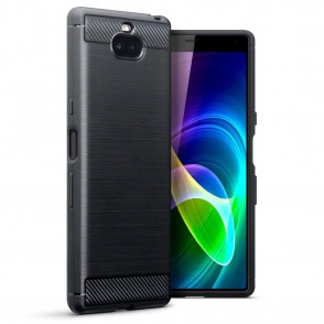 Terrapin Θήκη Σιλικόνης Carbon Fibre Design Sony Xperia 10 - Black (118-005-491)