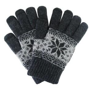 Γάντια για Οθόνη Αφής Γκρι Χειμωνιάτικο σχέδιο ΟΕΜ (200-103-284)