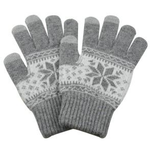 Γάντια για Οθόνη Αφής Γκρι Ανοιχτό Χειμωνιάτικο σχέδιο ΟΕΜ (200-103-285)
