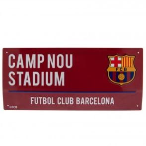 Μεταλλική διακοσμητική πινακίδα Barcelona F.C - Κόκκινη Επίσημο Προϊόν (100-100-702)