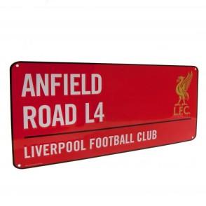 Μεταλλική διακοσμητική πινακίδα Liverpool F.C Κόκκινη (100-100-614)