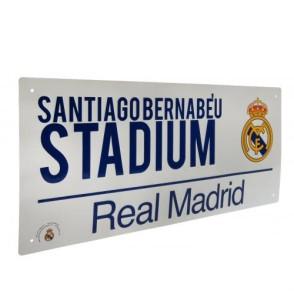 Μεταλλική διακοσμητική πινακίδα Real Madrid - Santiago Bernabeu - Επίσημο Προϊόν (100-100-613)