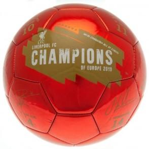 Ποδοσφαιρική Μπάλα Liverpool Champions of Europe(Υπογεγραμμένη) 100-100-868