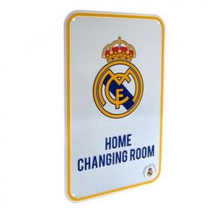 Μεταλλική διακοσμητική πινακίδα Real Madrid - Home Changing Room - Επίσημο Προϊόν (100-100-603)