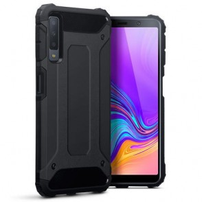 Terrapin Ανθεκτική Θήκη Double Layer Impact Samsung Galaxy A7 2018 - Black (131-002-121)